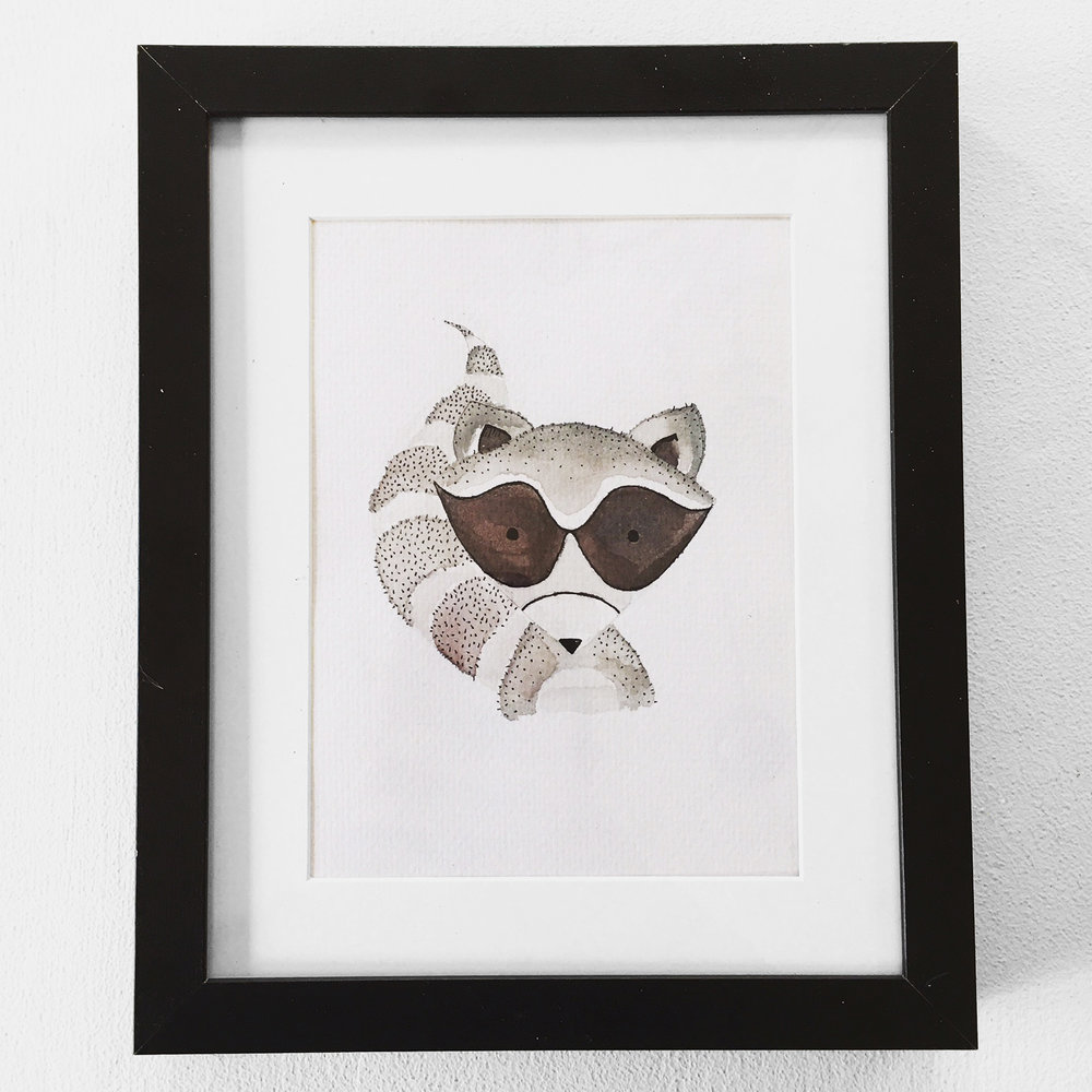 Woodland Raccoon $25