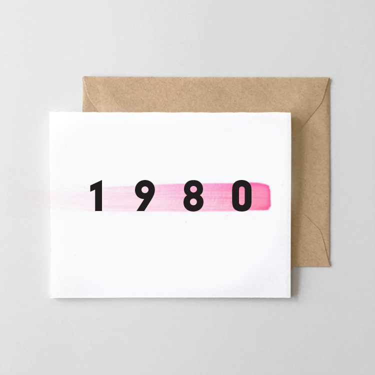 The 80s Baby Card (1980-1989 available)