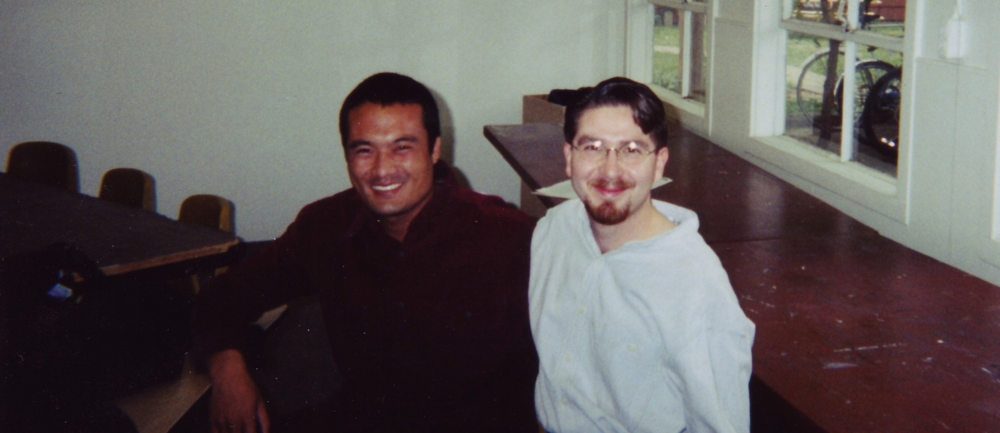Netanel Miles-Yépez with with Karma Lhuendup at the Naropa Institute in 1999 in Judith Simmer-Brown's Vajrayana Texts Seminar.
