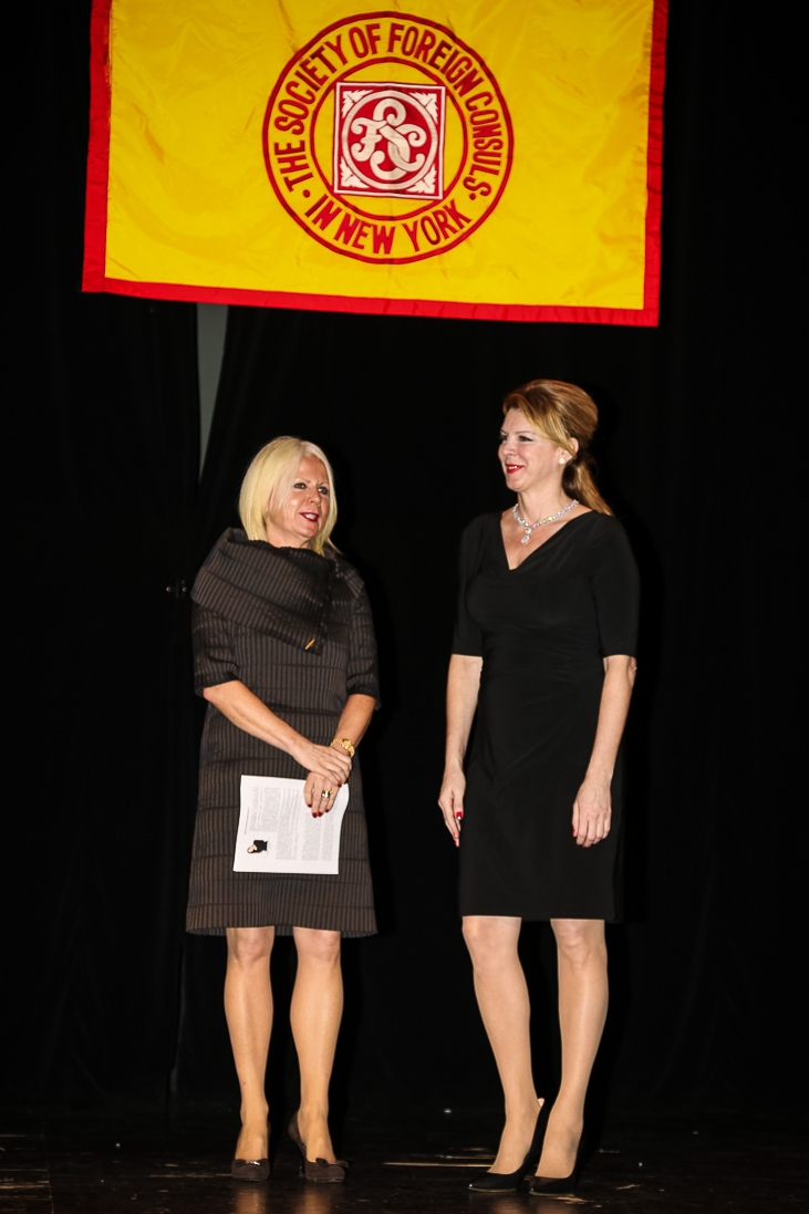 Alexandra Borowczak and Jana Trnovcova, Consulate General of Slovakia in New York