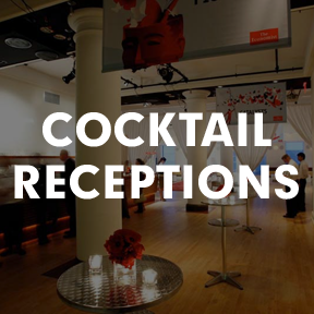 Cocktail Receptions and Party Photo Gallery at HELEN MILLS Event Space & Theater