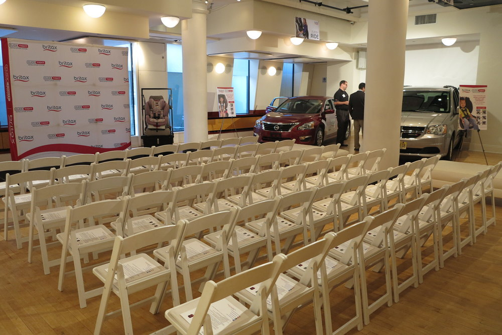 Britax Press Event - Theater Style Setup