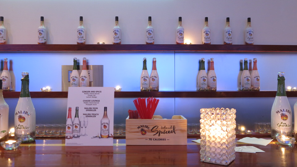 Liquor Sponsor Bar Display