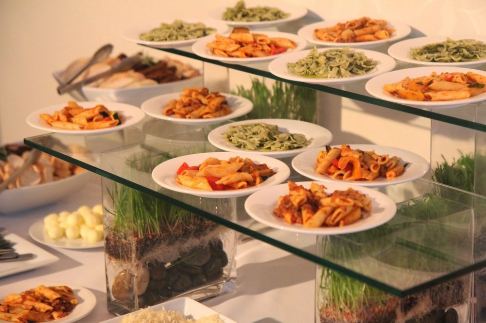 Small Plates Catering Display at HELEN MILLS Event Space and Theater