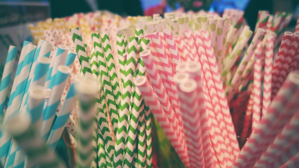 Gorgeous selection of colorfully patterned straws mix up an overlooked utensil. Hats off to Aardvark Paper Straws!