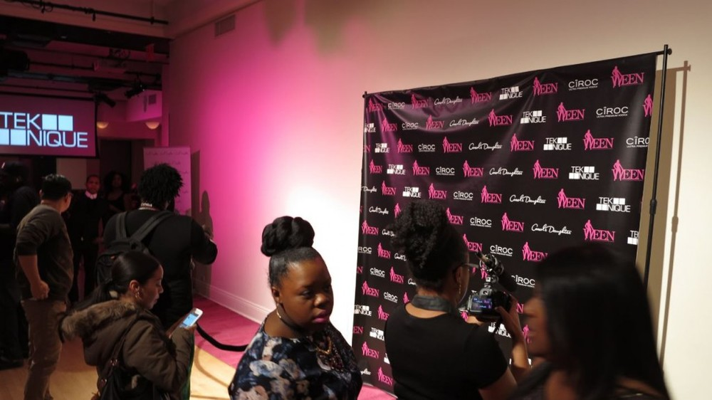 WEEN Step & Repeat with a Pink Carpet