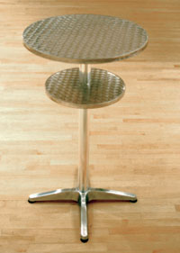 stainless steel highboy table