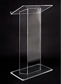clear acrylic theater podium
