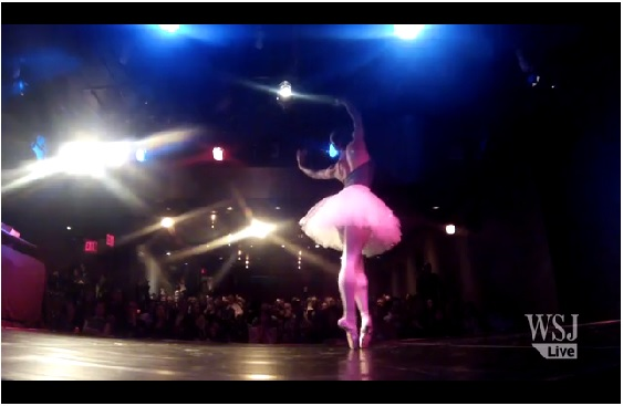 Misty Copeland Performs at the HELEN MILLS Theater for the Wall Street Journal