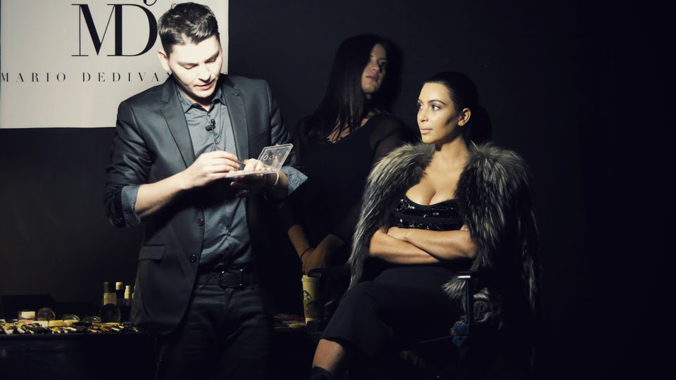 Celebrity Makeup Artist Mario Dedivanovic's Master Class at HELEN MILLS featured Kim Kardashian on Day 2 of the class.