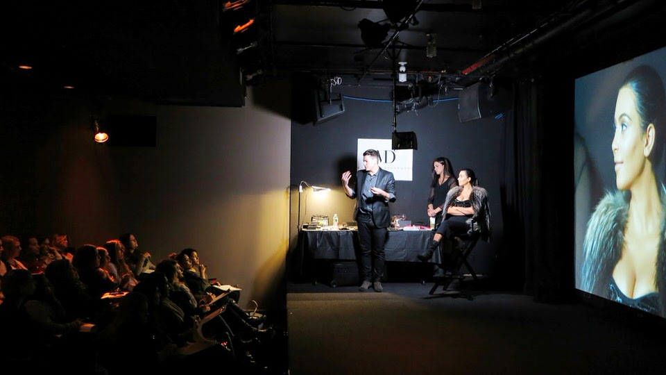 Celebrity Makeup Artist Mario Dedivanovic's Master Class at HELEN MILLS features Kim Kardashian