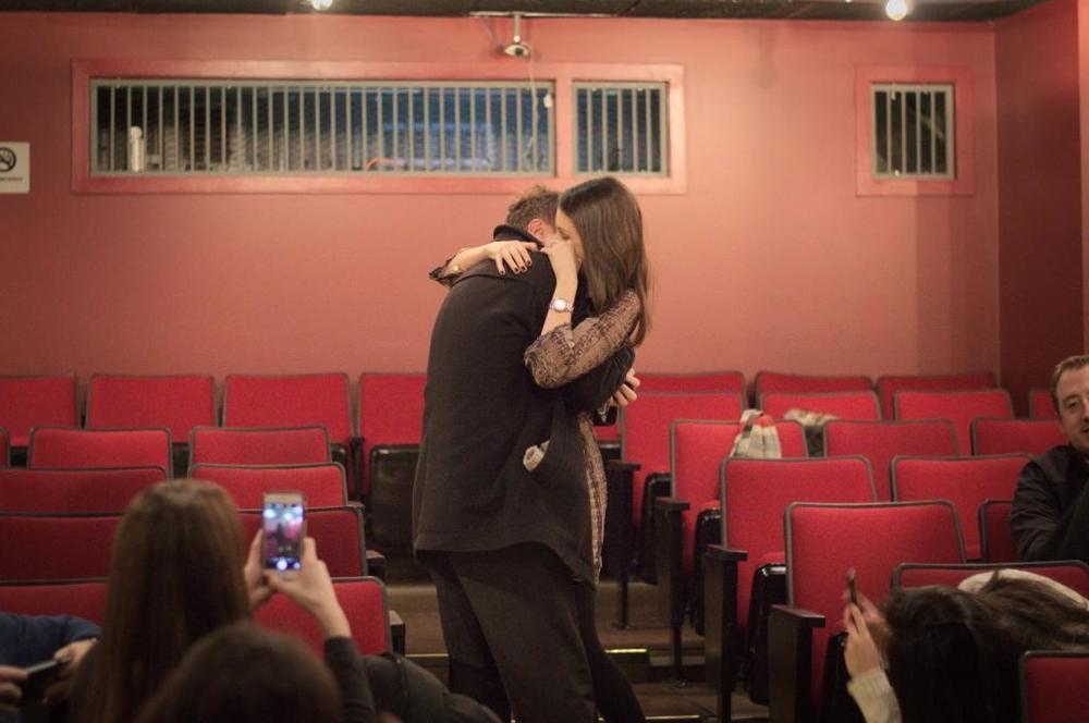 Damon and Lauran hugging