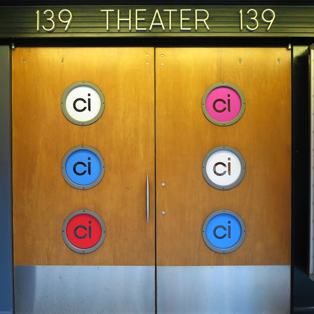 Logos in portholes at entrance