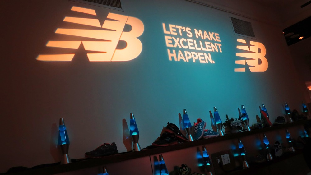 Projected logo on wall example