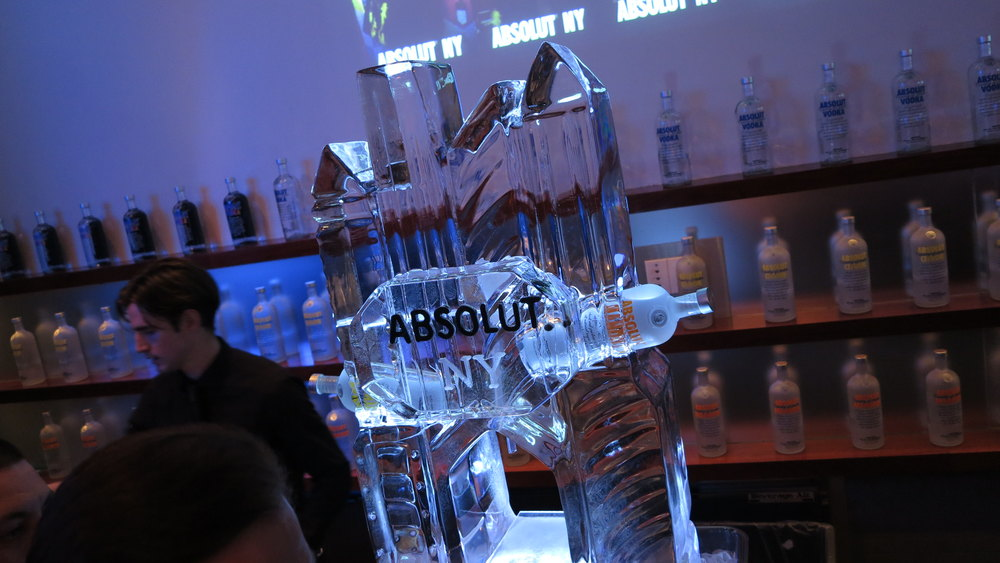 Absolut Event - Ice Sculpture on Bar