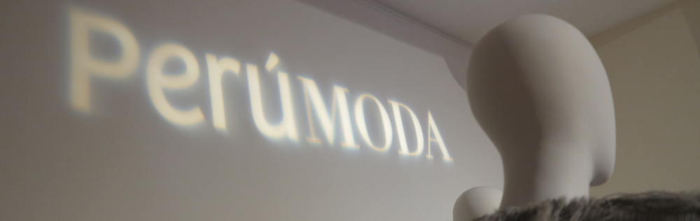 Peru MODA logo projection on wall