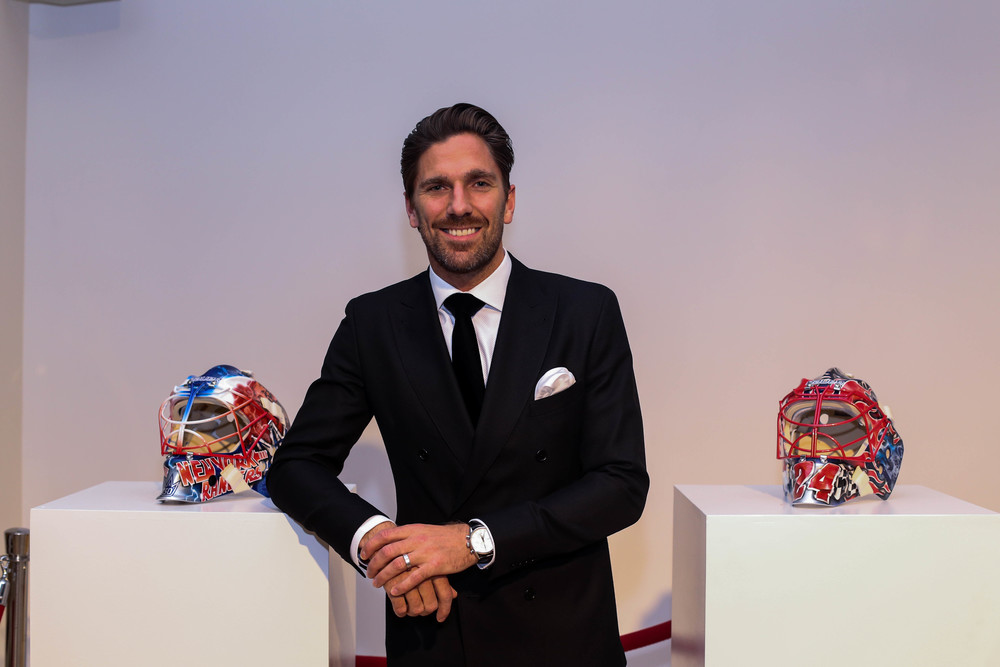 Henrik Lundqvist with masks