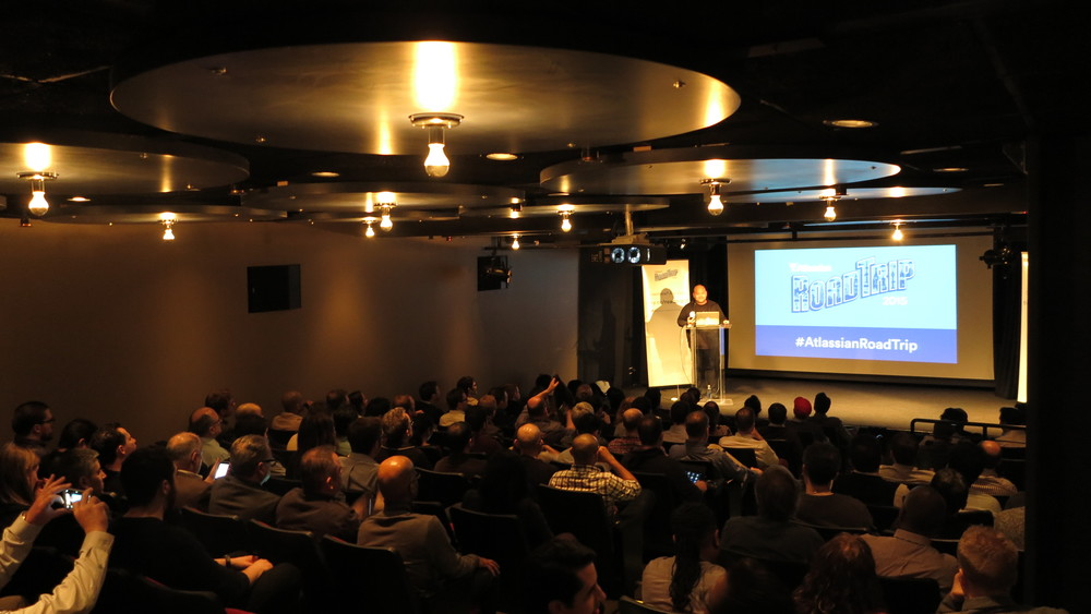 Atlassian 2015 Road Trip presentation view from audience