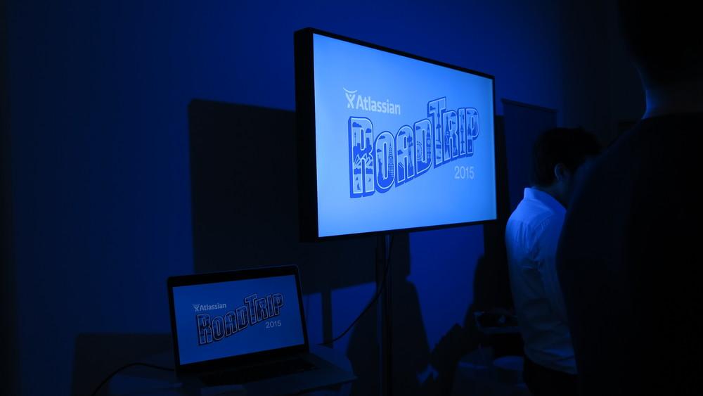 Atlassian 2015 Road Trip video display side view