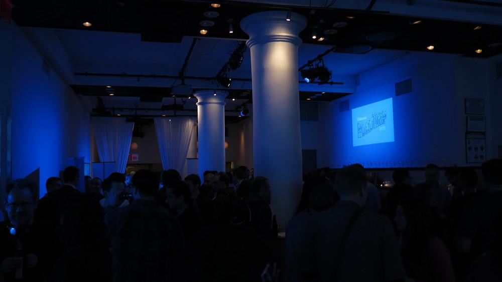 Atlassian 2015 Road Trip blue lighting