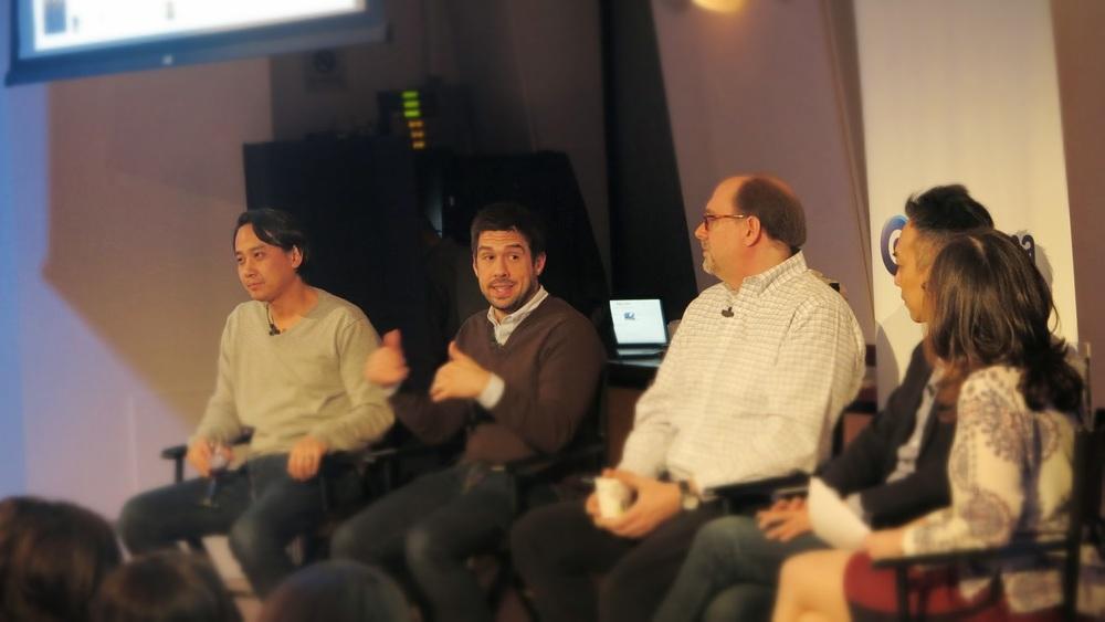 Gorkana ReCode panelists front view
