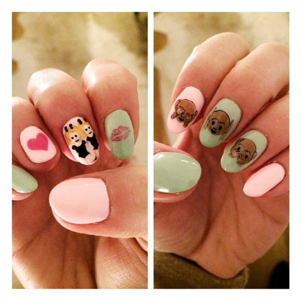 Emoji nails...most frequently used version.