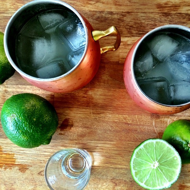 Moscow Mules from above. Photo by: 3stacksdallas on Instagram