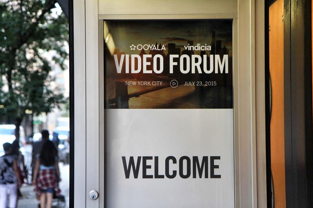 Ooyala Forum signage