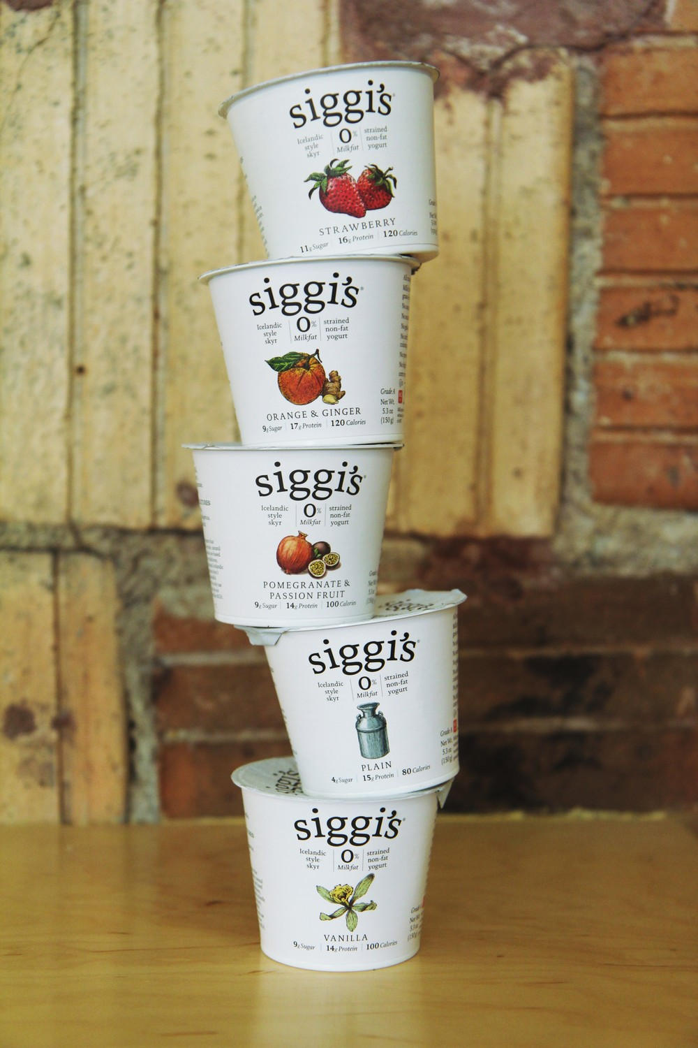 Our most recent delivery of Siggi's products. We can't decide if there is a best flavor.