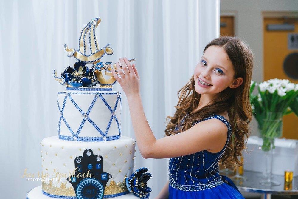 Amelia with cake