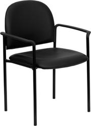 black padded theater chair