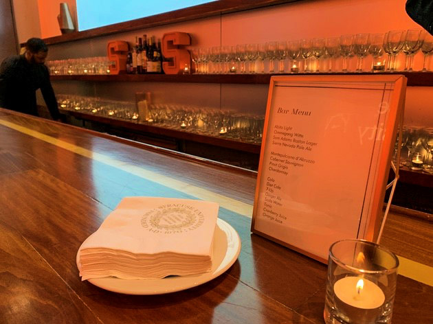 Bar menu and napkins