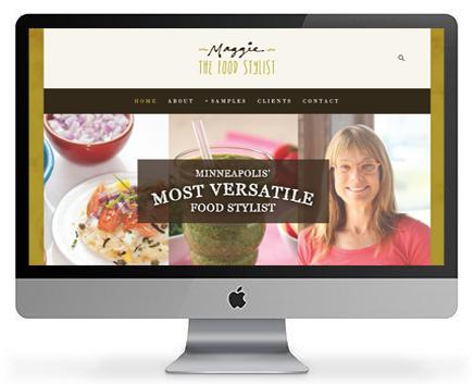 Web design mock-up.