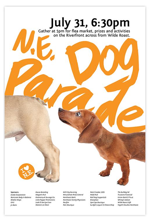 dog parade poster
