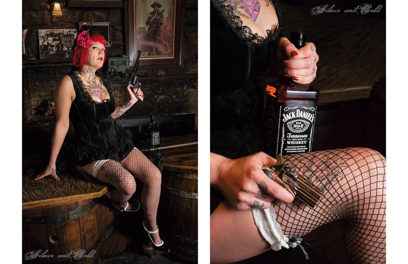 "My image from the Gaslight Girls and Six Shooters show. It can be seen in person until the end of the month at the Grind in downtown Glenwood Springs, and is currently up for sale. Message me for more info!!    ""Six Shots""   Model:Trixie Defiance   Location: Doc Holiday's Saloon   ©Adam Hughes"