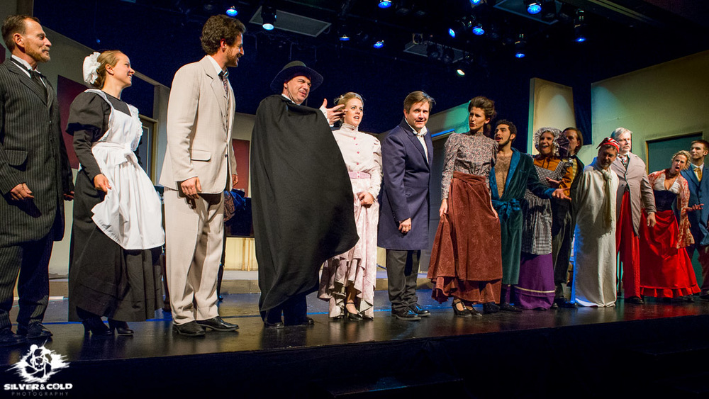 The cast of A Flea in Her Ear, performing at Colorado Mountain College at Spring Valley Campus.