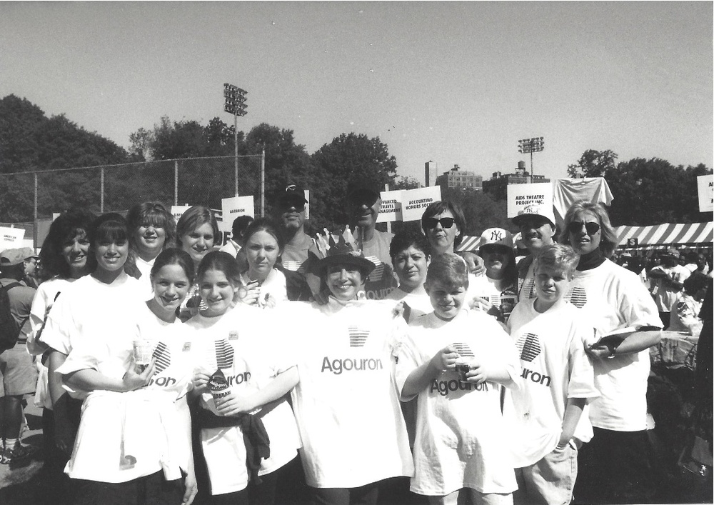AIDS WALK - Central Park May 18th 1997 - I am the boy on the very right, alongside my brother and other family friends.