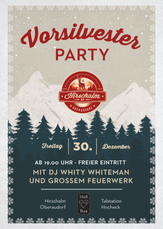 Vorsilvester Party Flyer