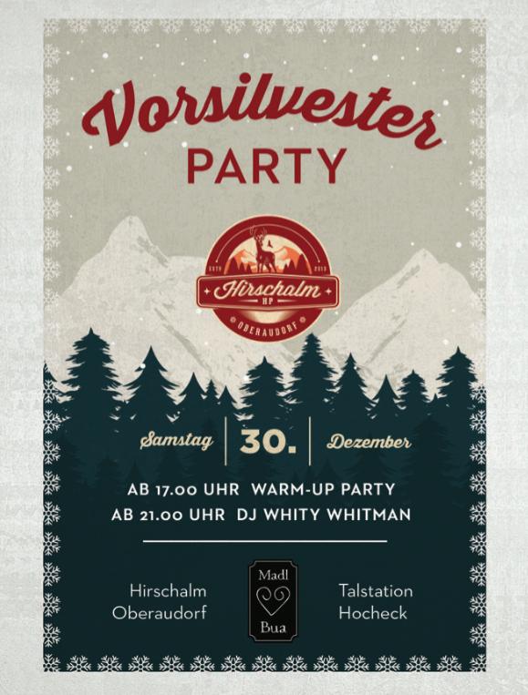 Vorsilvester 2017 Flyer