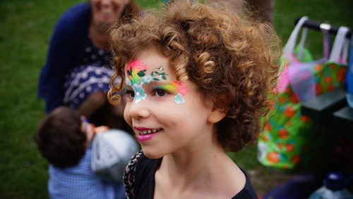 Amazing face painting job by Sweetythefacepainter -  photographed by me at a filming session of kid's birthday.