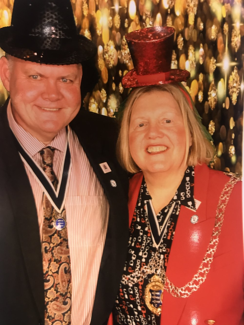 Kingston Mayor and consort in the magic booth