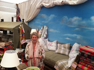 Brigette on the Odd Limited stand at Decorex.