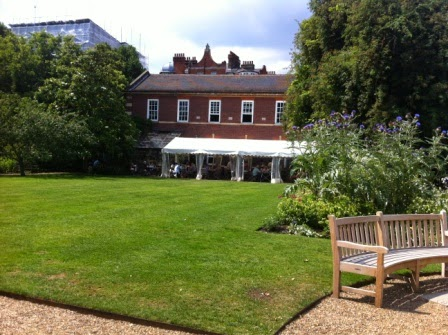 View across the lawn to the Café