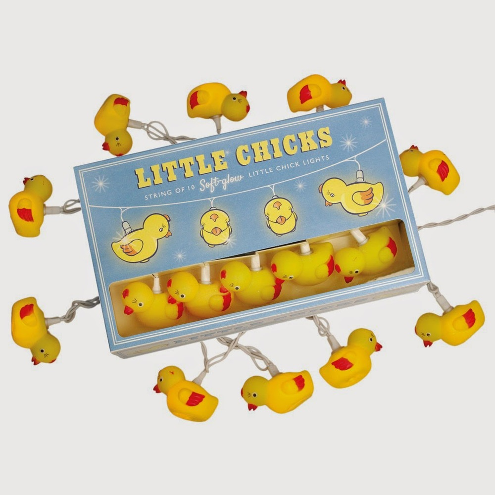 Little chick string of lights (also Easter bunnies!!)
