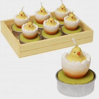 Easter chick tealights