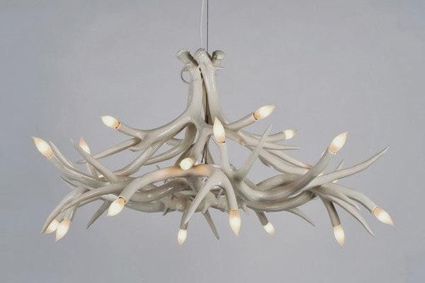 I adore this Jason Miller antler chandelier