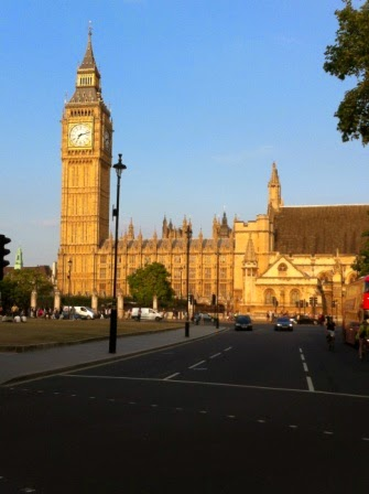 House of Commons and Big Ben at 7.30pm