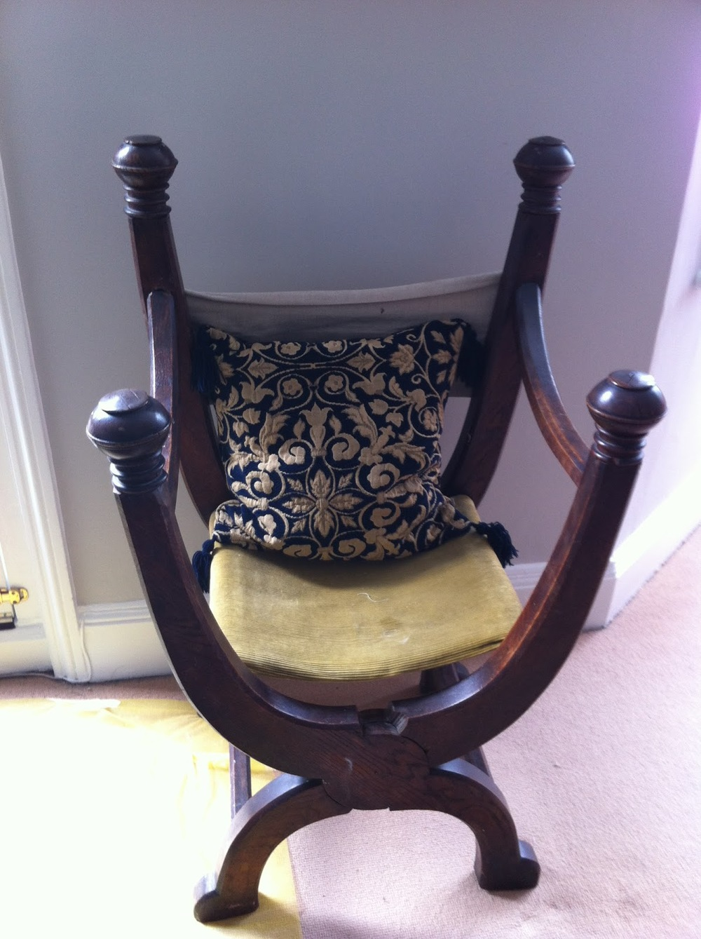 Sitting room revamp restoring a unique folding chair for Unique sitting chairs