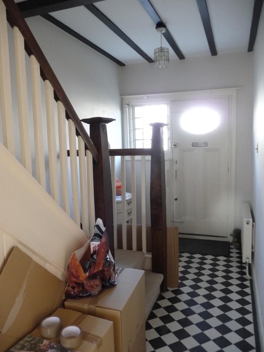 Hallway with original Edwardian tiles