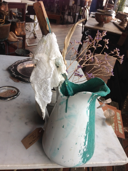 French porcelain jug used for mixing enamels